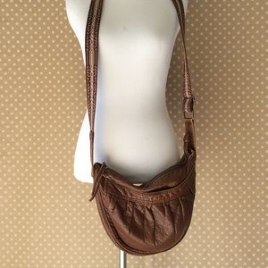 American Eagle brown leather purse
